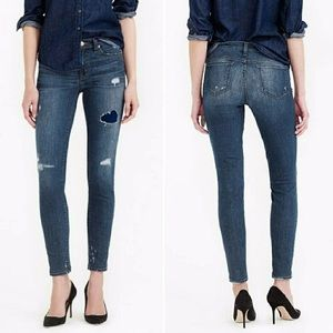 Great pair of distressed toothpick jeans!